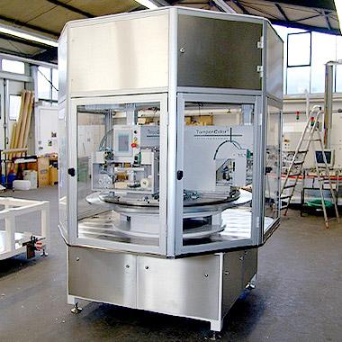 Tampondruckmaschinen für die Pharmaindustrie
