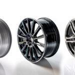 Designdruck auf Aluminiumrädern