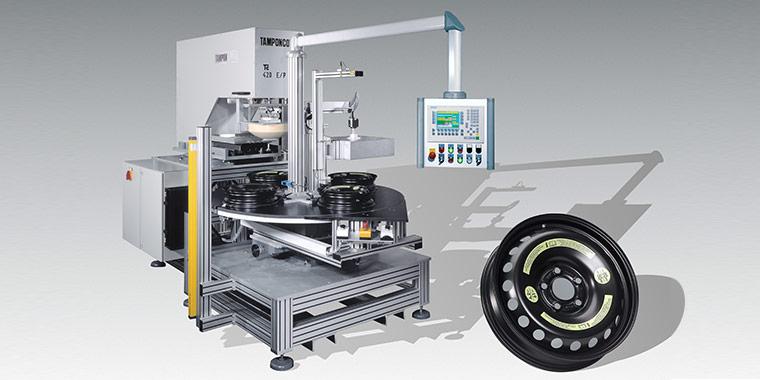 Tampondruckmaschine zum Bedrucken von Noträdern