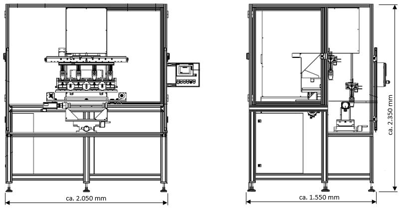 Tampondruckmaschine TAMPONCOLOR TC 120 T/4CP-Servo